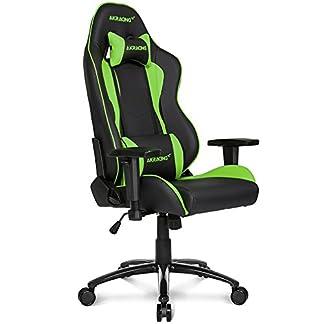 AKRacing Nitro – AK-NITRO-GN – Silla Gaming, Color Negro/Verde