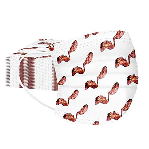 HEnri 10/20/30/40/50 Einmal-Mundschutz, Staubs-chutz Atmungsaktive Mundbedeckung, Erwachsene Mund und Nasenschutz,Face-Mouth Cover Sommerschal