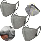 3PCS VVUPIc Unisex Mouth Cover Anti Dust Face Mouth Dust protective, Grey Cotton Face Mask for Cycling Camping Travel Ship From USA