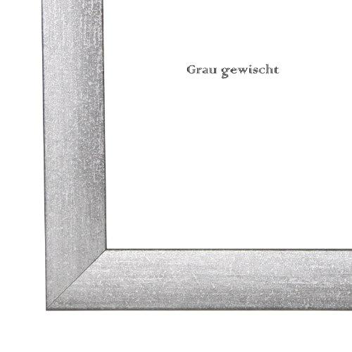 Olimp Bilderrahmen 22 Farben DIN A0 (84,1x118,9 cm oder 118,9x84,1 cm) Farbe: GRAU GEWISCHT, mit Rückwand und Antireflex Acrylglas - Foto Galerie Poster Rahmen NEU