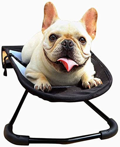 SKYWPOJU Pet Rocking Chair, Portable and Easy-to-Clean Dog Bed, Comfortable Pet Suntan Chair, Breathable Lattice Rocking Chair, Suitable for Small Dogs, Plush Dogs and French Bulldogs (Color : B)