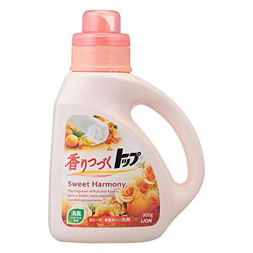 香りつづくトップ スイートハーモニー 柔軟剤入り洗剤 蛍光剤無配合 洗濯洗剤 液体 本体 900g