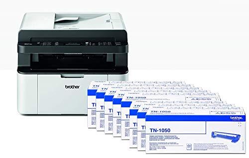 Brother MFC-1910W Stampante Multifunzione Laser 4 in 1 Monocromatica a 20 ppm, Compatta, Fax, USB e Wi-Fi