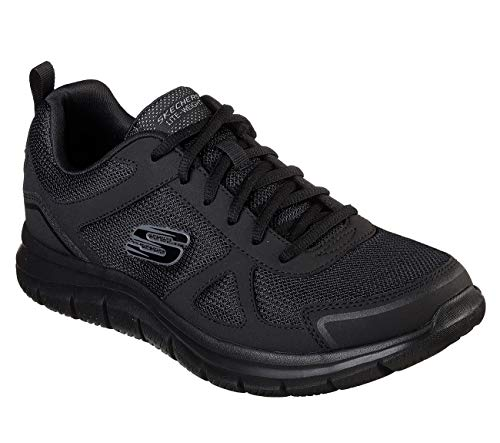 Skechers Track-scloric 52631-bbk, Zapatillas Hombre, Negro (Black 52631/Bbk), 42 EU
