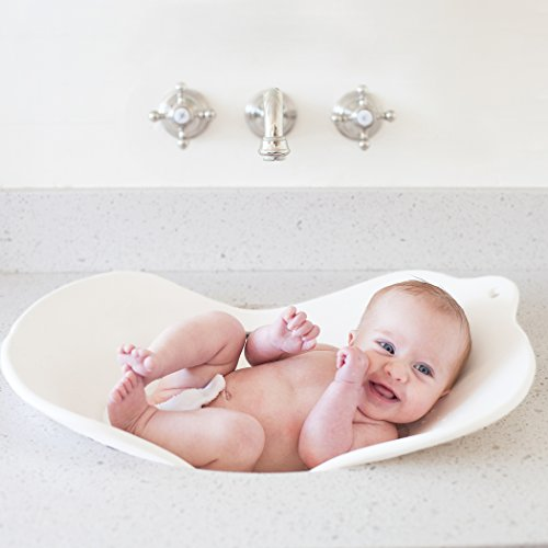Puj Compact Infant Bathtime Basin Insert Flyte (White)