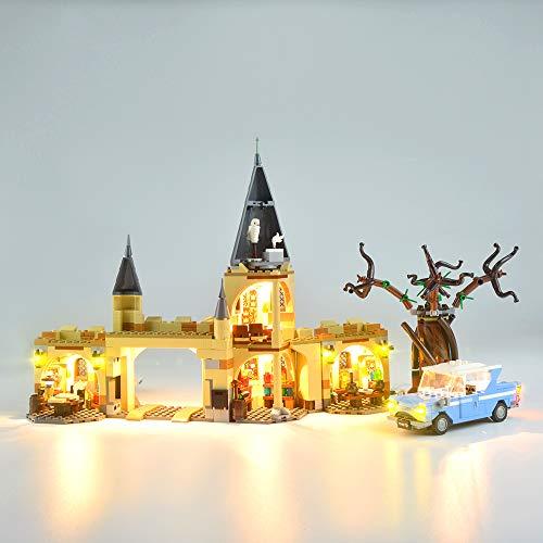 EDCAA Led Light Up Kit für Harry Potter Hogwarts Great Hall Castle Spielzeug, Geschenkidee für Zauberer-Weltfan, Baukasten für Kinder Kompatibel mit Lego 75953 (ohne Modell)