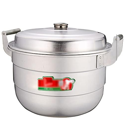 Pentola in alluminio alluminio/zuppa di alluminio Pentola in alluminio antiquato per panini al vapore ispessiti Gas di grande capacità (Size : 46cm)