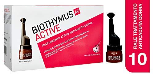 Biothymus AC Active Trattamento Attivo Anticaduta Capelli Per Donna, 10 Fiale Monodose - 150 Gr