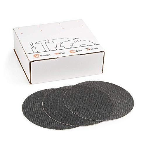 Juego de 20 discos abrasivos de 225 mm, grano 80, ideal para lijadoras de techo, lijadoras de construcción en seco y lijadoras de disco
