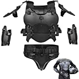 Airsoft Vest Body Armor Vests Adjustable Tactical Molle Chest Protector Set Paintball Combat Gear Cosplay Costumes (Black)