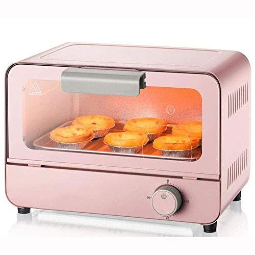 Elektrische mini-bakoven, 6 l, met licht, multifunctioneel, koken & grill, timer, 800 W, gemakkelijk te reinigen