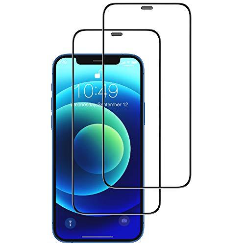 Humixx Kompatibel mit iPhone 12 Panzerglas | iPhone 12 Pro Panzerglas[2 Pack], (6.1 Zoll) Upgrade 3D Staubschutz in Industriequalität Vollabdeckung 9H gehärtetes HD Schutzfolie