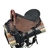 XMXM Racing Saddle Horse Saddle Horses Equipment Saddle Stain Set Movimiento Caballo Movimiento Sillín Seguridad Handrail Amortiguador Sólido Durable para Ecuestre Cross- Coffee-Large