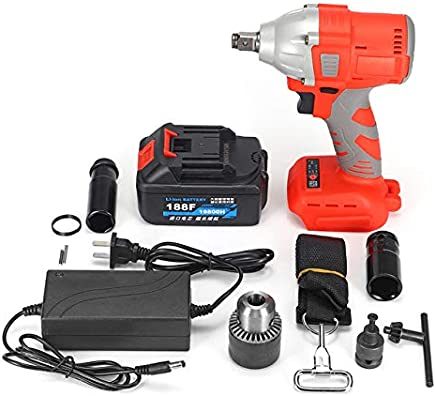 19800/25800m/32800mAh Brushless Cordless Electric Impact Wrench Socket Tool With Batteries Hand Drill Installation Power Tools : 188F