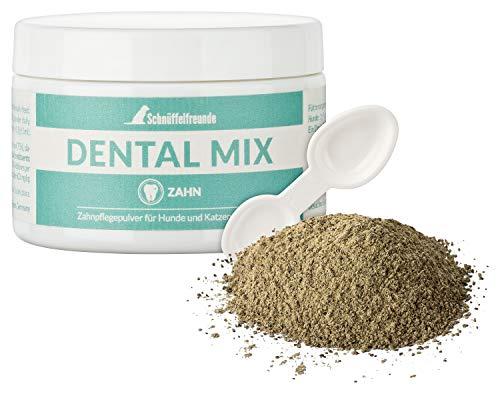 Schnüffelfreunde Dental Mix Polvo Limpiador de Dientes para Perros y Gatos I Cuidado Dental para su Perro o Gato