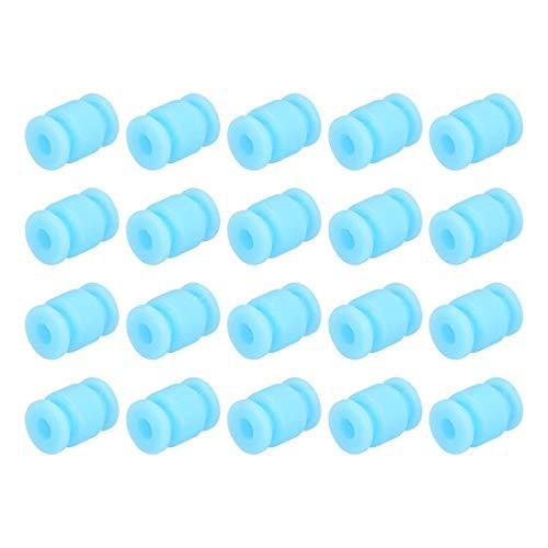 N/D RC Anti Vibration Rubber Balls 20PCS für Fright Controller/Gimbal/Webcam / QAV250 / ZMR250 - Blau