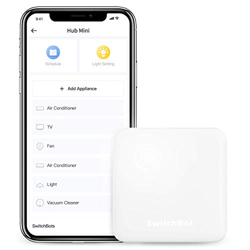 SwitchBot Hub Mini Smart Remote - IR Blaster, Link SwitchBot to Wi-Fi, Control Air Conditioner, Compatible with Alexa, Google Home, HomePod, IFTTT