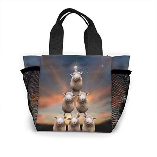 not applicable Wiederverwendbare Weihnachtsbaum-Einkaufstasche Einkaufstasche aus Ripstop-Polyester oder Lunchpaket