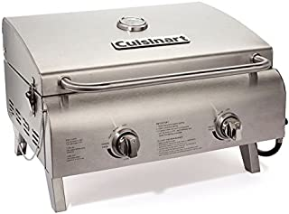 Cuisinart CGG-306 Professional Tabletop Gas Grill, Two-Burner, Stainless Steel