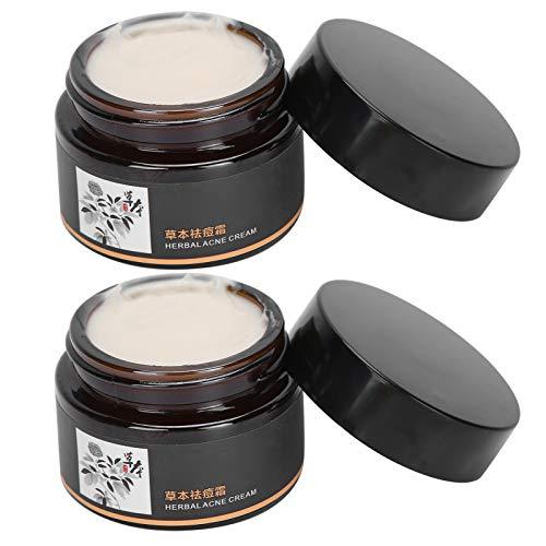 Extractos de plantas de poros retráctiles para eliminar espinillas, crema facial para hombres y mujeres, crema para el acné a base de hierbas, 2 unidades para eliminar las marcas del acné, dispositivo