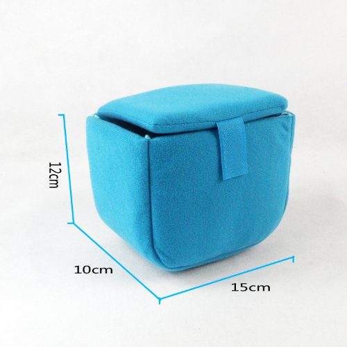 Shockproof DSLR Camera Insert Sleeve Organizer with Removable Partitions-Make Your own DSLR Camera Bag-Blue