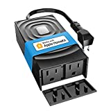 meross Smart Outdoor Plug, Waterproof WiFi Outdoor Outlet, Compatible with Apple HomeKit, Amazon Alexa, Google Assistant and SmartThings, Remote Control, Timer, FCC and ETL Certified