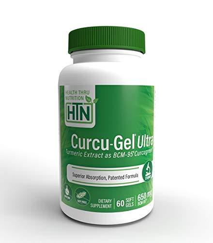 Health Thru Nutrition 650 Mg Bcm-95 Bio-Curcumin Complex Curcu-Gel...