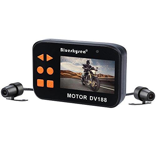 Blueskysea DV188 Motorcycle Recording Camera 1080p Dual Lens Video Driving Recorder Motorbike Dash...