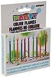 Unique Party Paquete de 10 Velas de cumpleaños y portavelas con Llama Colorida (34099) , Modelos/colores Surtidos, 1 Unidad