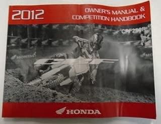 2012 HONDA CRF250R MOTORCYCLE Owners Manual Competition Handbook OEM FACTORY