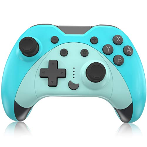 Mando para Nintendo Switch, KINGEAR Inalambrico Pro Controller Compatible con Switch/Switch Lite/PC, Kawaii Gato Gamepad Joystick con 6 Ejes/Turbo/Control de movimiento,Kawaii Gifts for Friends