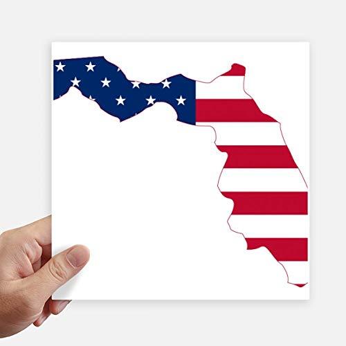 DIYthinker Florida Usa Kaart Sterren Strepen Vlag Vorm Vierkante Stickers 20Cm Wandkoffer Laptop Motobike Decal 4 Stks