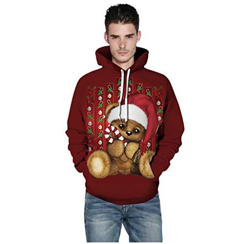 SHE.White Weihnachten Hoodie Unisex 3D Druck Paar Kapuzenpullover Pullover Schön Oversize Herren Sweatshirt Damen Kapuzenpullover Sweatshirt Sweatjacke S-5XL