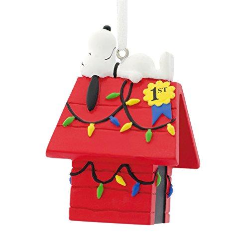 Hallmark - Decorazione per albero di Natale con motivo 'Snoopy atop', motivo: Peanuts