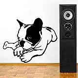 tzxdbh 59cm * 48.3cm drôle français Bulldog Sticker Mural Autocollant pour la décoration de la Chambre W3-291