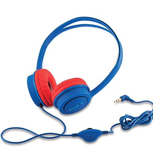 iBall Star Wired Over The Ear Headphone Without Mic (Dark Blue and Red)