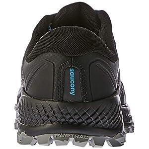 Saucony Men's Peregrine ISO Trail Running Shoe, Black/Grey, 11 M US