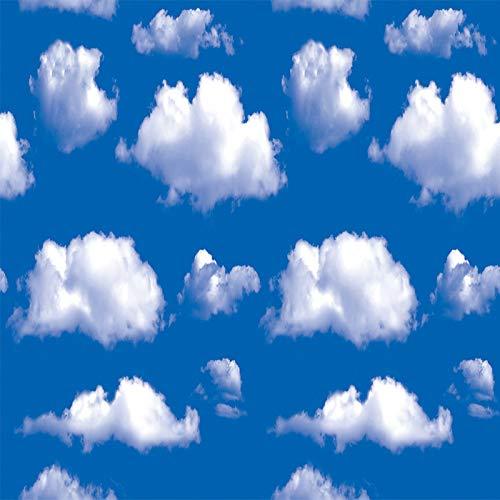 LZYMLG 3D wasserdichte Ziegel Muster selbstklebende Tapete dicken Schlafsaal Schlafzimmer Wohnzimmer TV Hintergrund Wanddekoration PVC-Aufkleber Blauer himmel