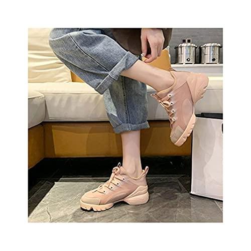 HaoLin Calzado Casual Zapatillas Caminar Senderismo Correr Zapatillas Clásicas para Exteriores Correr,Beige-37 EU