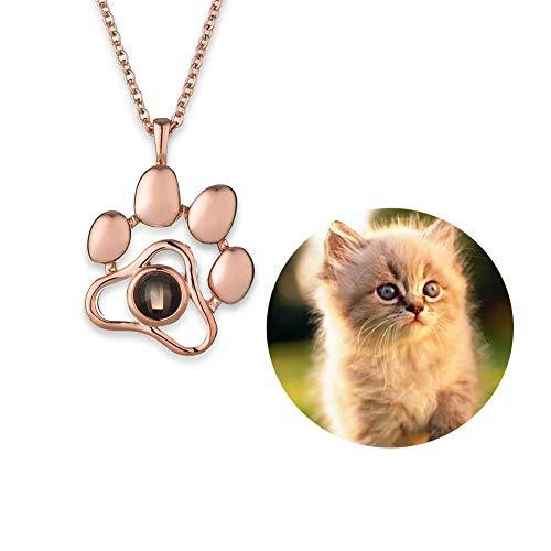Collar conmemorativo para mascotas, imagen personalizada de mascota, colgante con foto personalizada, regalo de simpatía para los amantes de las mascotas, en memoria de perro o gato