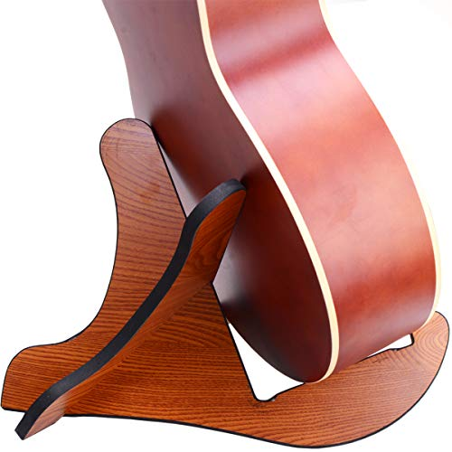 Guitra Stand Wooden Guitar Stand Portable Folding Instrument Holder for Acoustic, Classic, Electric, Bass Guitar