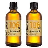 Naissance Huile Essentielle de Patchouli (n° 106) - 200ml (2 x 100ml) - 100% pure, naturelle et distillée à la vapeur - végan et non testée sur les animaux