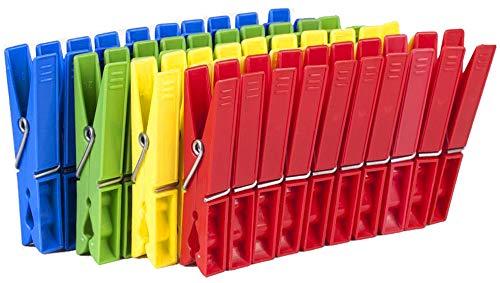 Tegra egra SILUK_ 50 x Wäscheklammern Klammern Wäscheklammer Kunststoff farbig (50 STK)