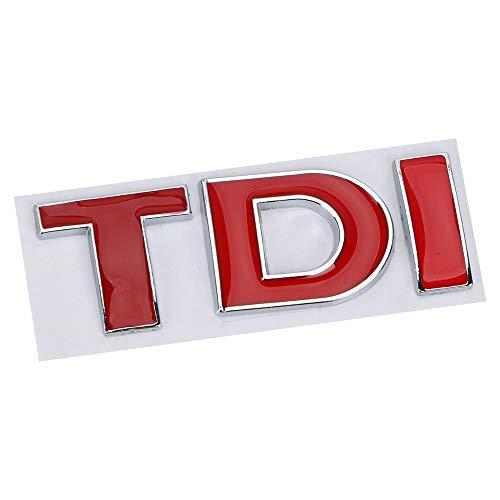 Aufkleber Emblem Abzeichen für VW Golf Jetta Passat MK4 MK5 MK6 TDI Logo 3D Metall Turbo Direkteinspritzung Auto Aufkleber (D)