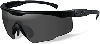 WileyX PT-1 Sunglasses, Smoke Grey Lenses in Wraparound Shape Offered in Matte Black color from Eyeweb