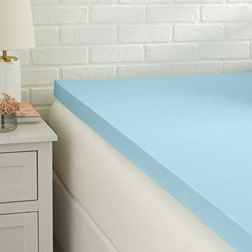 Amazon Basics Cooling Gel-Infused Memory Foam Topper, CertiPUR-US Certified - 2-Inch, Full