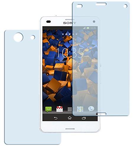 mumbi Hart Glas Folie kompatibel mit Sony Xperia Z3 Compact Panzerfolie, Schutzfolie Schutzglas (2X)