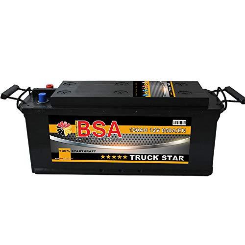 BSA LKW Batterie 120Ah 12V 850A Transporter Starterbatterie statt 115Ah 110Ah
