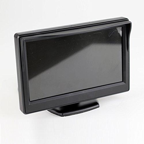 """4.3"""" Auto Coche Camión Monitor LCD Pantalla Dash Montaje Estar, 12-24 Ancha Entrada Universal para Camión Auto 2 RCA Video Entrada para Reserva Cámara / Vista trasera / DVD / Media Player"""