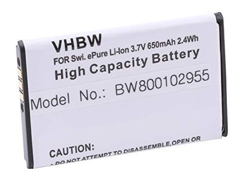 vhbw Li-Ion Akku 600mAh (3.7V) kompatibel mit schnurlos Festnetz Handy Swissvoice Epure, Epure fulleco Duo Ersatz für 043048, SV20405855.
